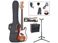 JH SKEWES - ENCORE E20 Electric Bass Guitar with WATSON 15 watt Bass Amplifier