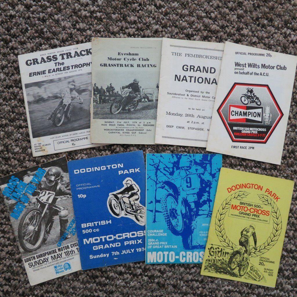 Motocross / Grasstrack Programmes from 1970s