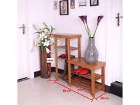 100 % Natural Bamboo 5 tier Bench, Storage & Shoe Rack Organizer 90x28x45x84 cm
