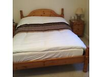 Pine double bed and 3 bedroom units (all matching)