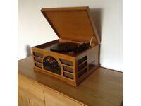 Record player, wooden, retro