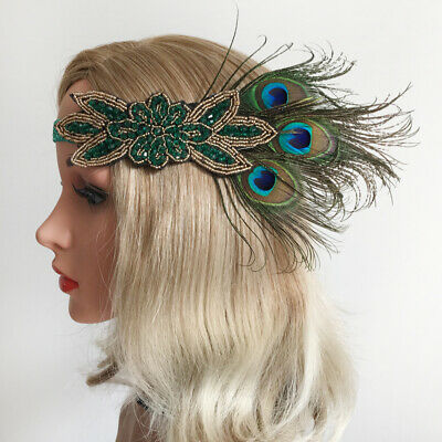 Retro Flapper Headband  Peacock Feather Headpiece Hair Accessories](Peacock Accessories)