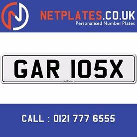GAR 105X Registration Number Private Plate Cherished Number Car Registration Personalised Plate