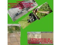 Gardening maintenance and jet wash