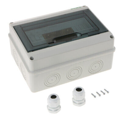 Outdoor Transparent Cover Power Distribution Protection Box 8 Ways Circuit