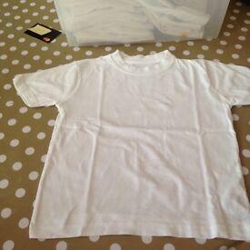 37 M/S white tshirts age 4 years £1 each