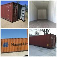 SHIPPING CONTAINERS SOLVE STORAGE!