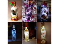 Personalised bottle lamps