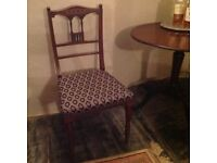 Edwardian occasional chair, inlaid mahogany