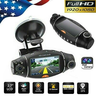 1080P HD GPS Car DVR Camera Vehicle Dash Cam Video Recorder G-sensor Dual Lens
