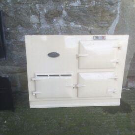 AGA cooker, very good condition dismantled, cream, 2001 original