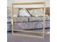 Hand loom for weaving, adjustable oak frame