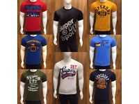 SuperDry Men's Round Neck T-Shirt for Wholesale Only