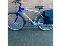 MENS/BOYS OPTIMA STEALTH BIKE WITH PANNIERS - EXCELLENT CONDITION