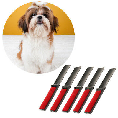 5x Pet Hair Brush Cleaning Dog Puppy Cat Kitten Hair Grooming Tool Plastic