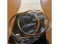 Avon large hoop earrings