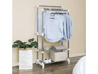 Hanging Rail - Clothes Stand with Shoes Rack Adjustable (96-172 cm)
