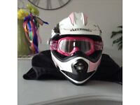 Girls motorbike helmet