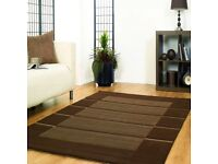 BRAND NEW QUALITY 200X290 BROWN FLAIR VISIONA SOFT RUG - MODERN CONTEMPORARY DESIGNS RUGS