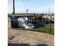 Wrought iron driveway gate, approx' dimensions: 3.4 m x 1.3 m, buyer removes