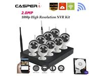 8CH Wireless Wifi 2MP 1080P DVR Outdoor HD IP Cameras CCTV With 3TB HDD