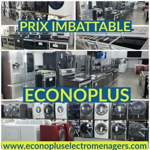 ECONOPLUS LIQUIDATION VASTE CHOIX DE REFRIGERATEURS A 3 PORTES INOX EN EXCELLENTE CONDITION  A PARTIR DE 999.99$