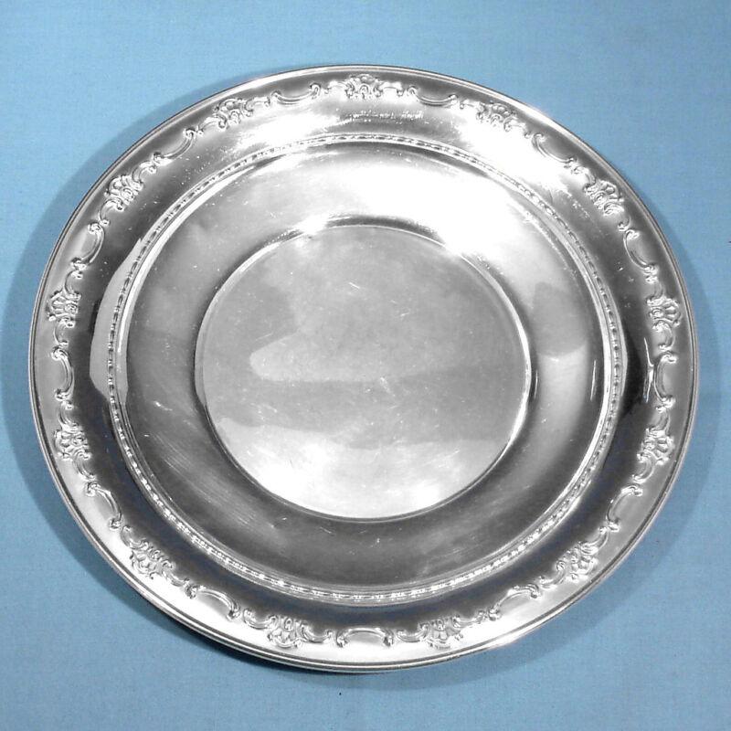 "GORHAM STERLING 8"" SANDWICH PLATE #1122 ~ STRASBOURG ~ NO MONO"