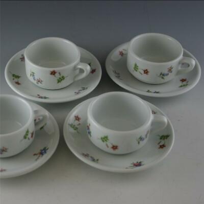 SET 4 CORDON BLEU BIA B.I.A THE FRIEDA COLLECTION ESPRESSO COFFEE CUPS & SAUCERS