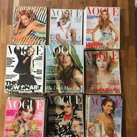 Various vintage and rage Vouge magazines from 1994 -2011