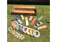 Vintage Collectible Antique Lawn Golf Game.