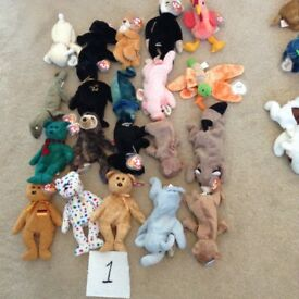 Ty Beanie babies x20 , excellent,£25. Batch 1 07778055133