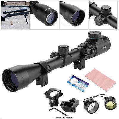 3-9x40EG Jäger Zielfernrohr für Luftgewehr Armbrust Rifle Scope + 11mm Montagen