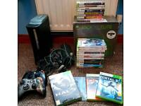 Xbox 360 elite with 20+ games and two controllers