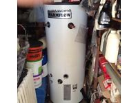 Warmflow 210 litre unvented indirect cylinder