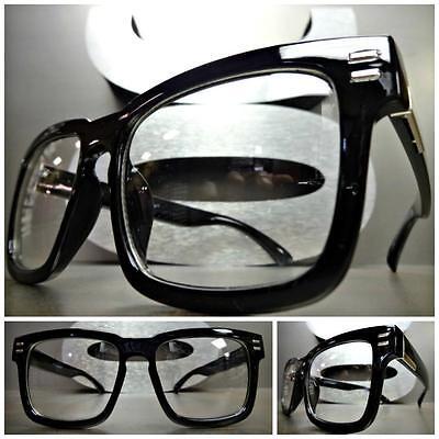 50s Fashion Women (Men or Women VINTAGE 50's RETRO Style Clear Lens EYE GLASSES Black Fashion)
