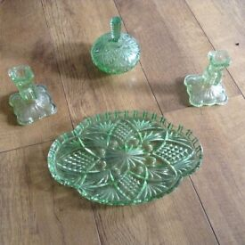 Antique glass dressing table set pressed vintage collect from tyldesley