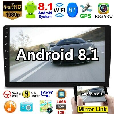 "10.1"" Android 8.1 Car Stereo GPS Navigation Radio BT MP5 Player Double 2Din"