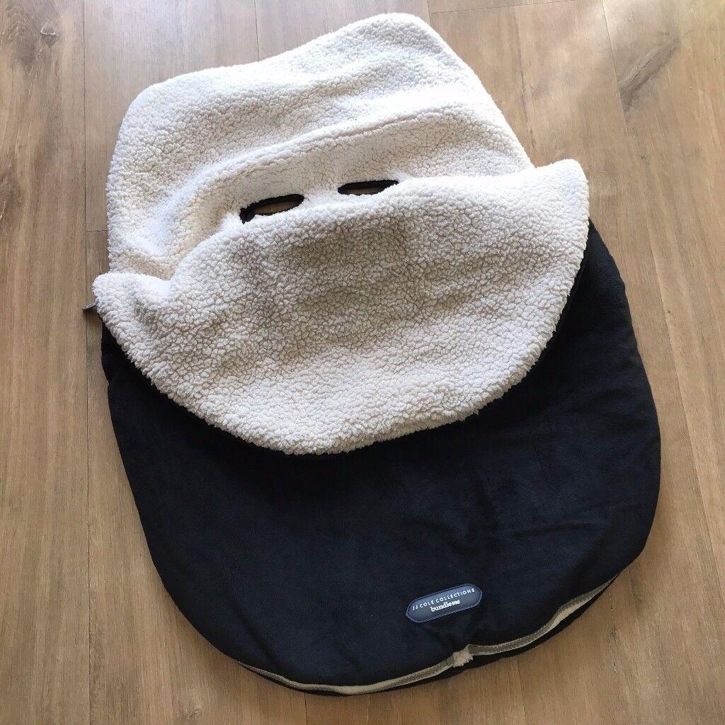 Car seat Footmuff, JJ COLE Original Infant Bundleme Infant, Black