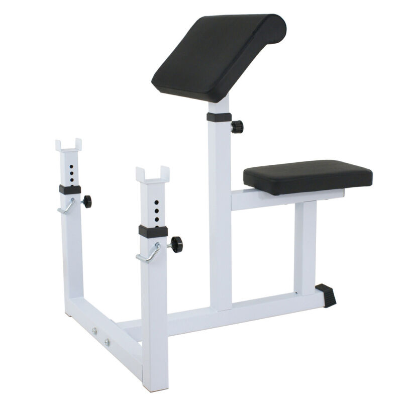 Professional Preacher Curl Weight Bench Seated Preacher Isolated Dumbbell Biceps