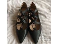 Topshop black ballet style flats size 5