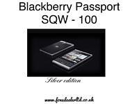Blackberry passport SQW 100 silver edition