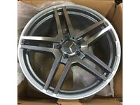 731 Mercedes style alloy wheels 19 inch new boxed 5x112 s e c class