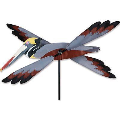 "Brown Pelican Bird Whirligig Wind Spinner Small 16"""