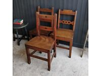 Set Georgian chairs, antique chairs, dining chairs, vintage chairs, 3 chairs