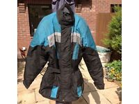 "Frank Thomas ""Aqua"" motorcycle jacket - size large."