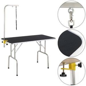 New 47.5'' Adjustable Pet Dog Cat Grooming Table Top Foam W/Arm&Noose Rubber Mat - BRAND NEW - FREE SHIPPING
