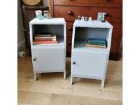 Pair of vintage bedside tables, bedside cabinets, bedside lockers, bedroom furniture