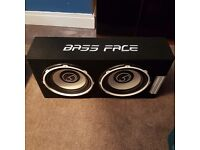 Bass Face Twin *2600w* Car Subwoofer with kit