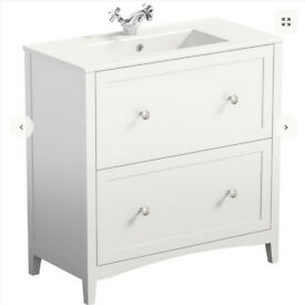 The Bath Co. Camberley white vanity drawer unit with basin 800mm with mixer tap
