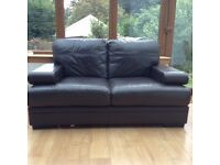 Real leather sofa, great condition £80
